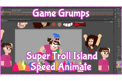 Behind the Scenes: Game Grumps Super Troll Island Speed ...