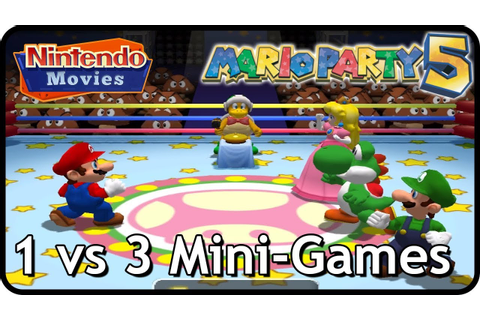 Mario Party 5 - All 1 vs 3 Mini-Games - YouTube