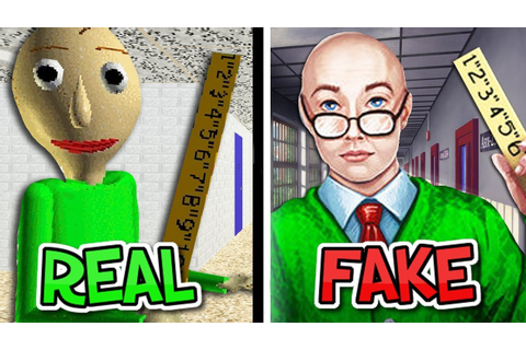 BALDI'S BASICS RIP-OFF GAMES! - YouTube
