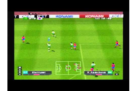 PS1 Game: ISS Pro Evolution Saudi Arabia Asian Cup - YouTube