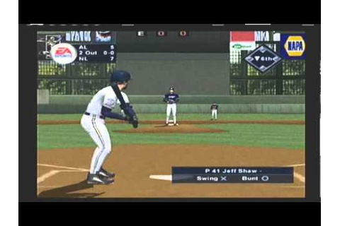 TRIPLE PLAY 2002 ALL-STAR GAME video game simulation - YouTube