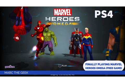 PS4: Finally Playing Marvel Heroes Omega (Free Game) - YouTube