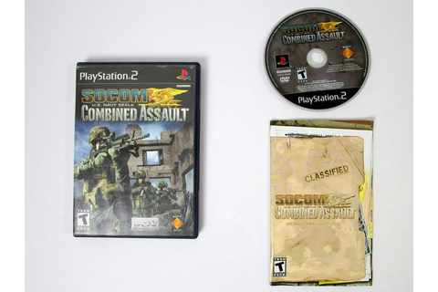 SOCOM US Navy Seals Combined Assault game for Playstation ...
