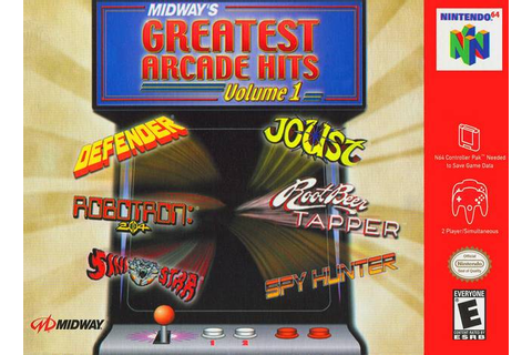 Midway's Greatest Arcade Hits Volume I Nintendo 64 Game