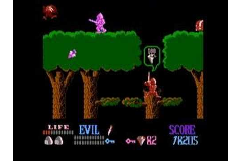Wizards and Warriors NES - Gameplay - YouTube