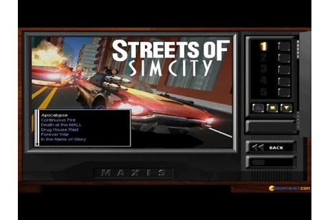 Streets of SimCity gameplay (PC Game, 1997) - YouTube