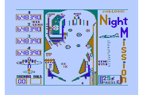 Night Mission Pinball Screenshots for Atari 8-bit - MobyGames