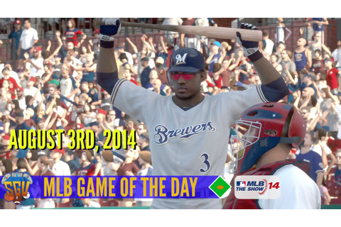 MLB 14: The Show - Game of The Day - Brewers vs Cardinals ...
