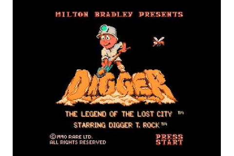 Digger T. Rock - The Legend of the Lost City (NES) Music ...
