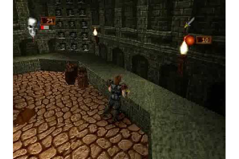 Deathtrap Dungeon (PSX) - gameplay (giant rat) - YouTube