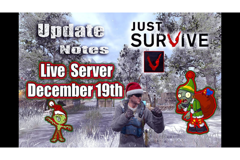 Just Survive Game Play | Live Server Update Notes ...