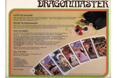 Board Games: Dragonmaster (Milton Bradley, 1981) | 2 Warps ...