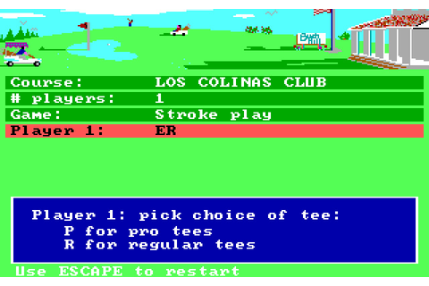 Download Mean 18 sports for DOS (1986) - Abandonware DOS