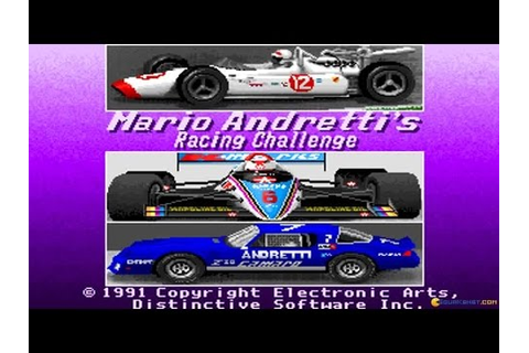 Mario Andretti Racing Challenge gameplay (PC Game, 1991 ...