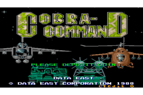 Cobra - commanD 1988 Data East Mame Retro Arcade Games ...