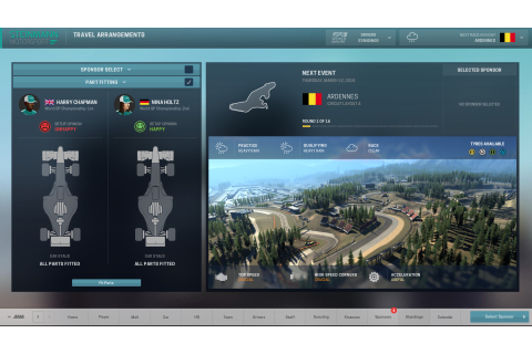 Motorsport Manager game work-in-progress screenshot · F1 ...