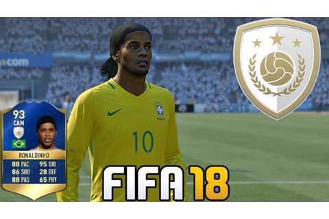 FIFA 18 | New Icon | Ronaldinho | Game Face | Card Rating ...