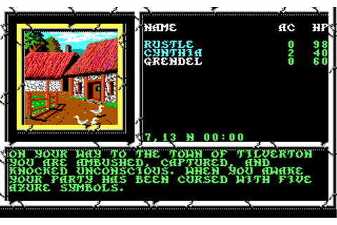 Curse of The Azure Bonds | Old MS-DOS Games | Download for ...