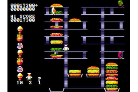 Burger Time - PC Game 1982 (CGA Composite Mode) - YouTube