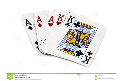Full House Aces stock image. Image of queens, gamble ...