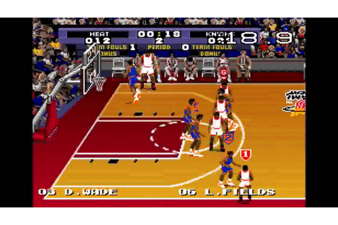 "NY Knicks -vs- Miami Heat! ""Tecmo Super NBA Basketball ..."