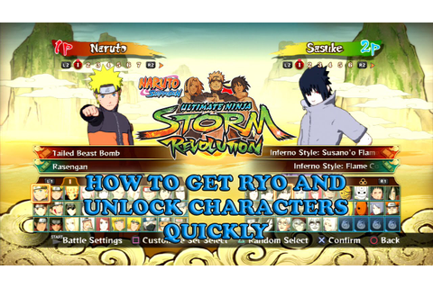 Fastest Way to Unlock All Characters Naruto Shippuden ...