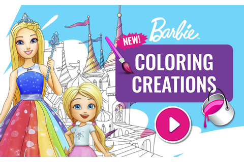 Coloring Creations Game | Barbie