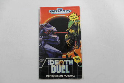 Manual - Death Duel - Sega Genesis
