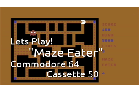 Maze Eater (Commodore 64 Cassette 50 Game 1) - YouTube