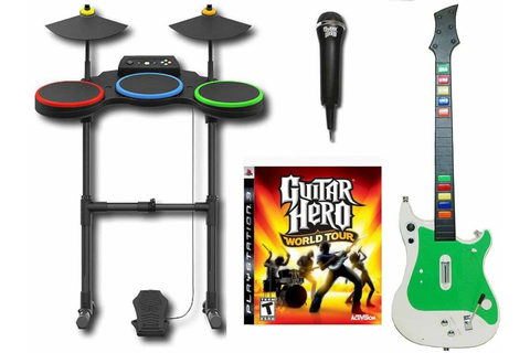 PS3 Guitar Hero World Tour Complete Set Bundle wireless ...
