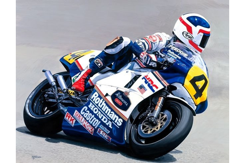 Racing Cafè: Motorcycle Art - Alan Jones #1