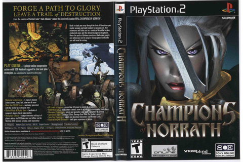 Games Covers: Champions Of Norrath - Ps2