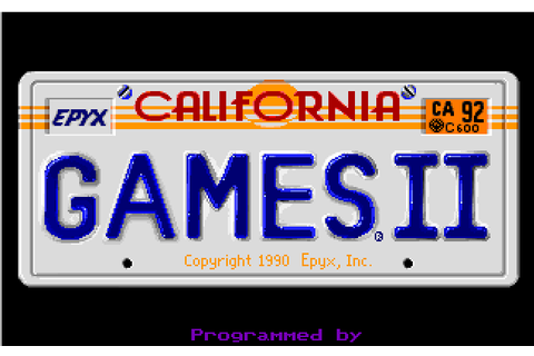 California Games II | Play DOS games online