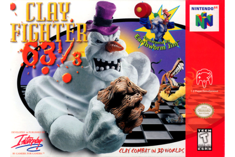 Clayfighter 63 1/3 Nintendo 64 Game