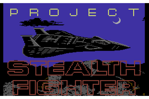 Project Stealth Fighter (1987) by Microprose C64 game