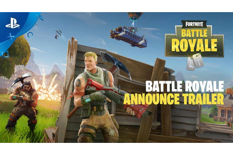 Fortnite – Battle Royale Announce Trailer | PS4 - YouTube