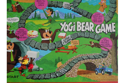 Yogi Bear/Board Game/Vintage Board Games/1970's