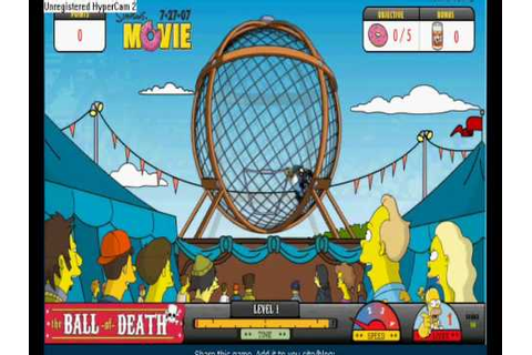 The Simpsons movie - ball of death game - YouTube