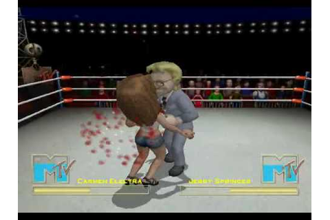 Celebrity Deathmatch The Game Carmen Electra VS Jerry ...