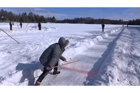 Snow Snake - Ojibwe Winter Games 2015 - YouTube