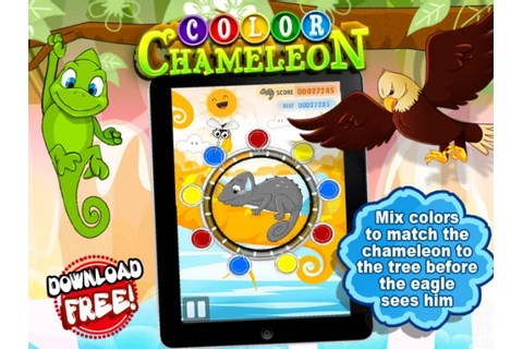Color Chameleon, fast-paced color mixing fun for kids ...
