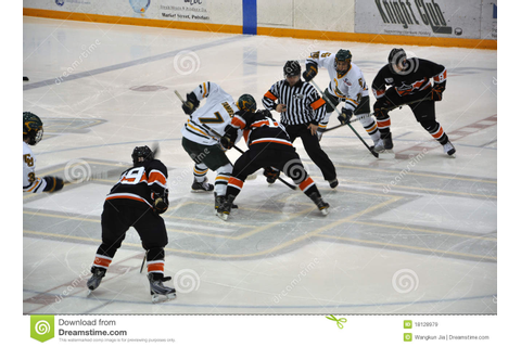Face Off In Ice Hockey Game Editorial Stock Image - Image ...
