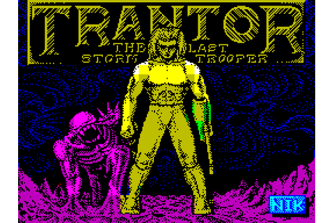 Trantor: The Last Stormtrooper (1987) by Probe Software ZX ...