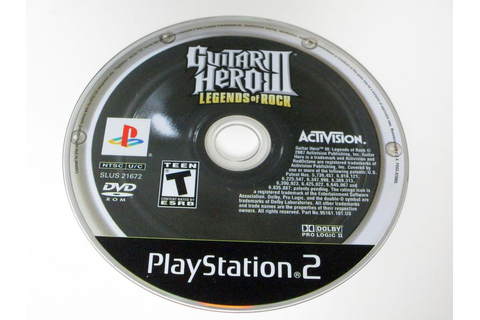 Guitar Hero III Legends of Rock game for Playstation 2 ...