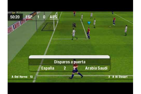 world tour soccer challenge edition psp - YouTube