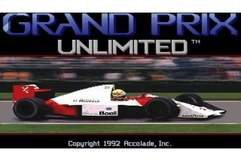Grand Prix Unlimited gameplay (PC Game, 1992) - YouTube
