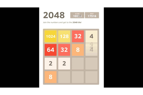 2048 | Complete Game - YouTube