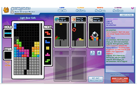 Tetris Friends-Arena 6 players - YouTube