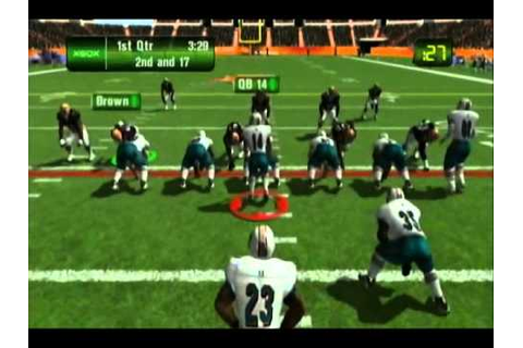 NFL Fever 2003 Dolphins vs Browns Part 1 - YouTube