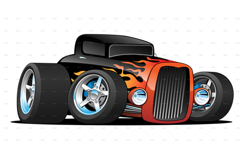Hot Rod Classic Coupe Custom Car Cartoon by jeffhobrath ...